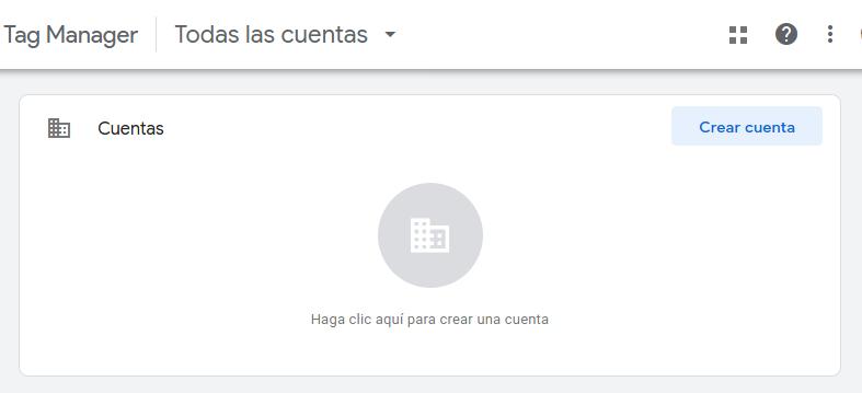 google tag manager crear cuenta