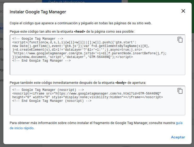 google tag manager instalar en tu web